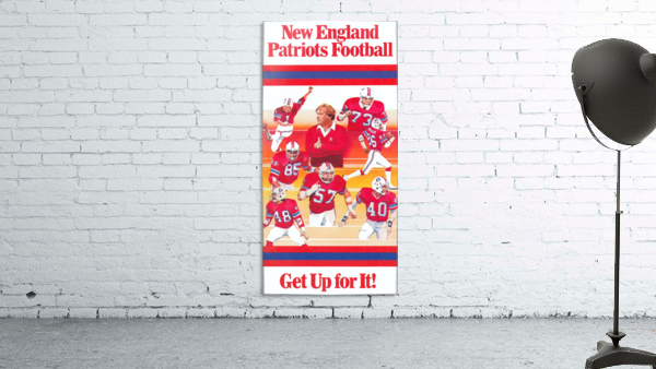 1981 new england patriots vintage nfl poster