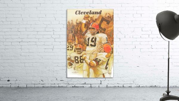 vintage cleveland browns nfl art poster