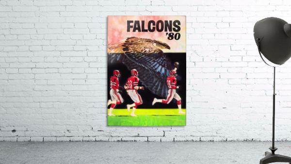 1980 retro nfl atlanta falcons poster
