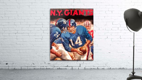 vintage new york giants nfl art poster