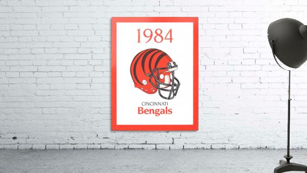 1984 cincinnati bengals retro helmet poster