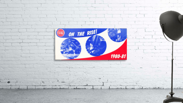 1980 detroit pistons nba basketball poster on the rise