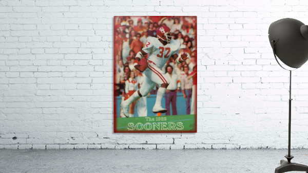 1982 oklahoma sooners retro college football poster