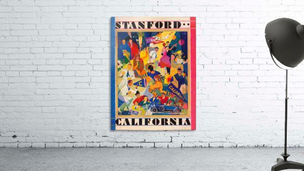 1928 cal stanford football program cover artwork for walls