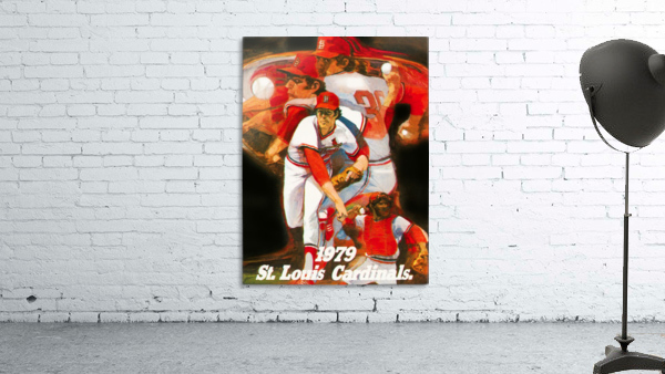 1979 st louis cardinals retro baseball poster