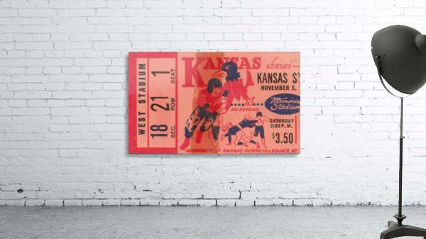 1955 university of kansas jayhawks super vintage college football art