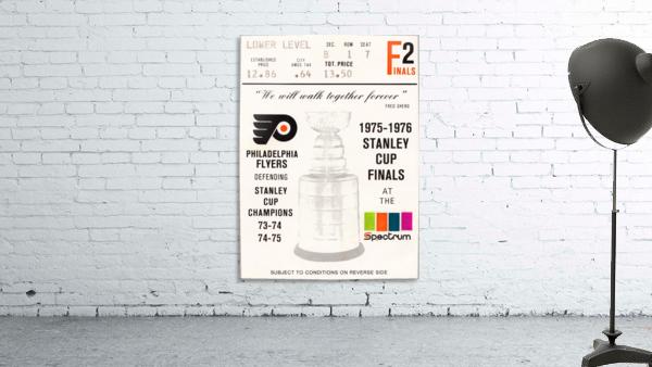 1975 stanley cup finals philadelphia flyers ticket stub hockey poster