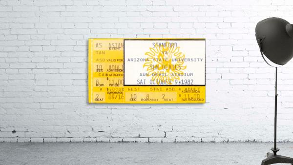 1982 arizona state sun devil college football ticket stub canvas sports wall art