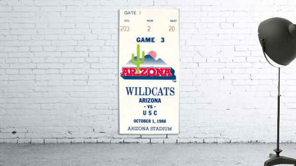 1988 arizona wildcats football vintage ticket stub canvas art
