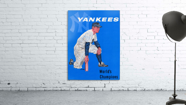 1958 New York Yankees Vintage Baseball Art