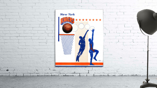 George Kalinsky Art Vintage New York Knicks Poster Reproduction Sports Art