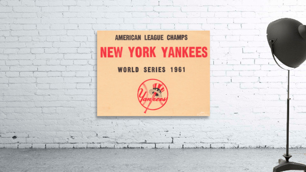 1961 New York Yankees World Series Wooden Baseball Prints