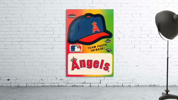 1983 fleer baseball sticker california angels poster
