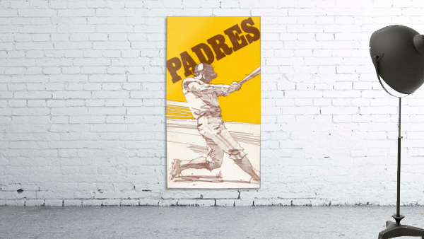 1974 san diego padres art reproduction