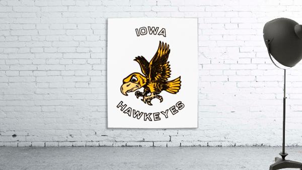 vintage iowa hawkeyes wood signs college mascot art