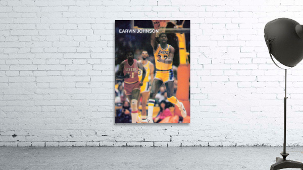 1983 Magic Johnson LA Lakers Retro Poster