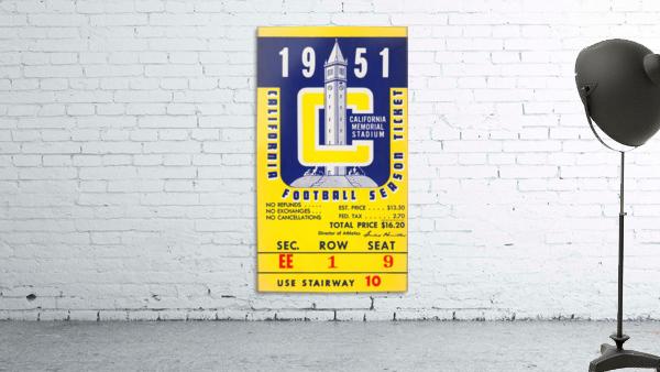 1951 college football season ticket cal bears row 1
