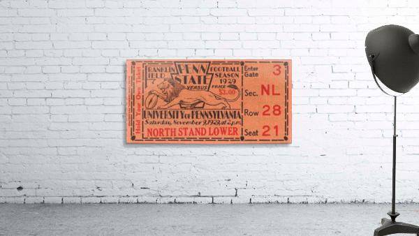 game room decor ideas 1929 pennsylvania penn state ticket canvas