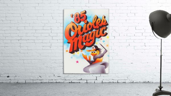 1985 baltimore orioles magic retro sports poster