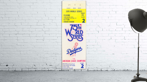 1978 world series la dodgers dodger stadium field box