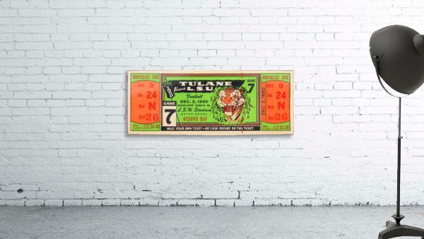 1950 tulane lsu tigers college football ticket sports art gifts baton rouge la