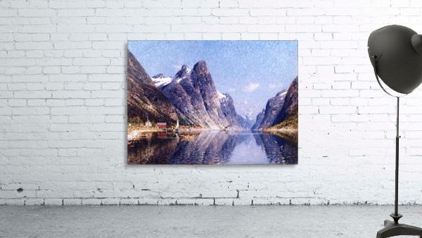 A Norwegian Fjord Scene