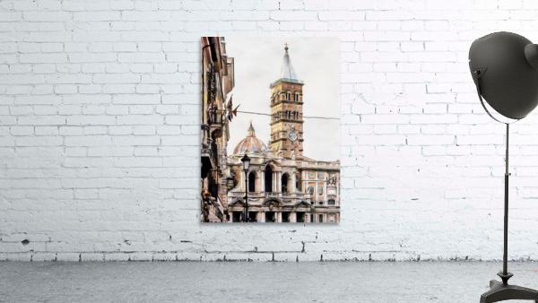 Street View Toward Basilica di Santa Maria Maggiore Rome