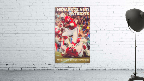1979 New England Patriots Retro Football Poster