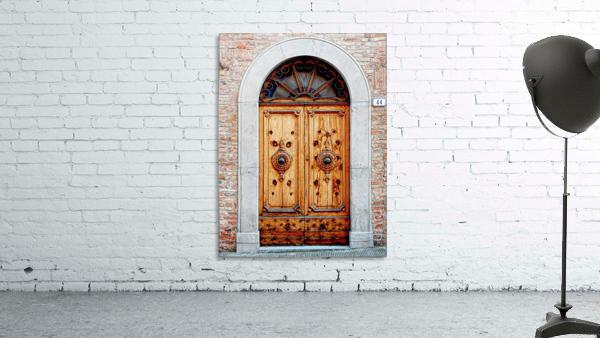 Ornate Wooden Door Citta della Pieve 1