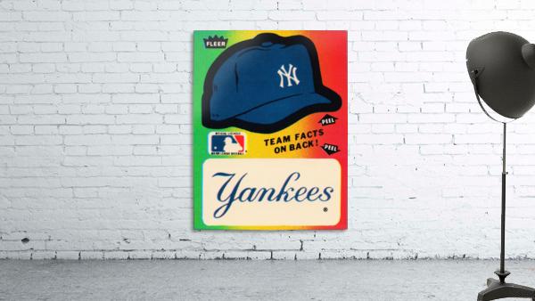 1982 fleer sticker new york yankees hat