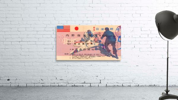 1956 brooklyn dodgers tour of japan baseball ticket stub canvas sports art