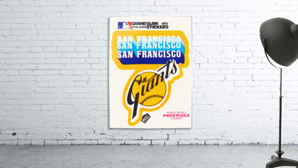 1979 fleer hi gloss san francisco giants sticker poster