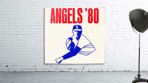 1980 california angels baseball pitcher art