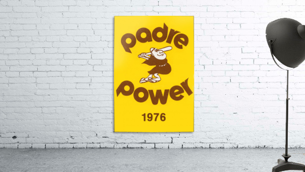 1976 san diego padres padre power poster 1