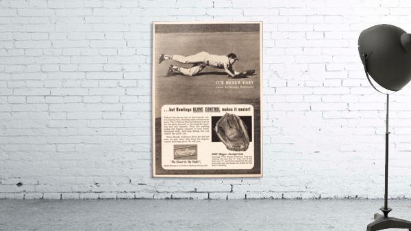 1963 brooks robinson rawlings baseball glove ad