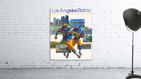1982 la rams downtown los angeles hollywood poster