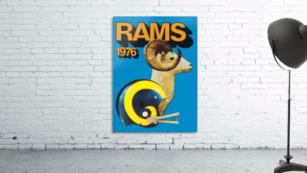 1976 rams vintage nfl poster