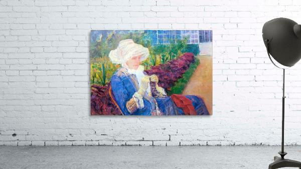 Lydia in the garden of Marly by Cassatt