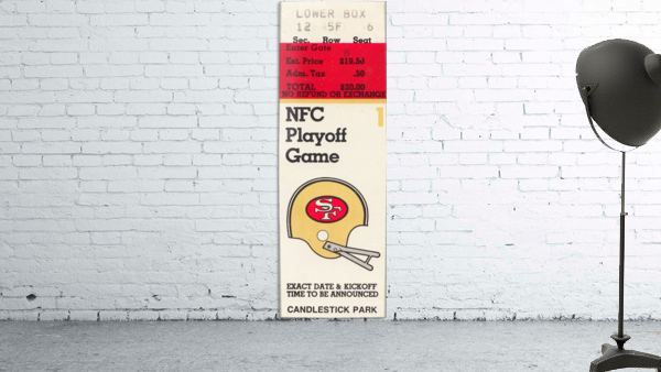1984 san francisco 49ers nfl football ticket art nfc playoff game