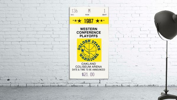 1987 golden state warriors nba basketball ticket art oakland coliseum
