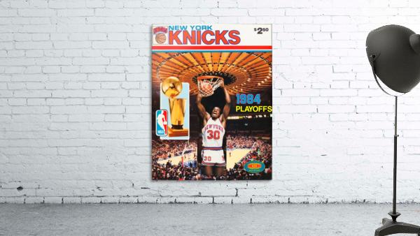 1984 new york knicks nba basketball playoffs bernard king program poster