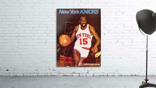 1977 new york knicks basketball poster