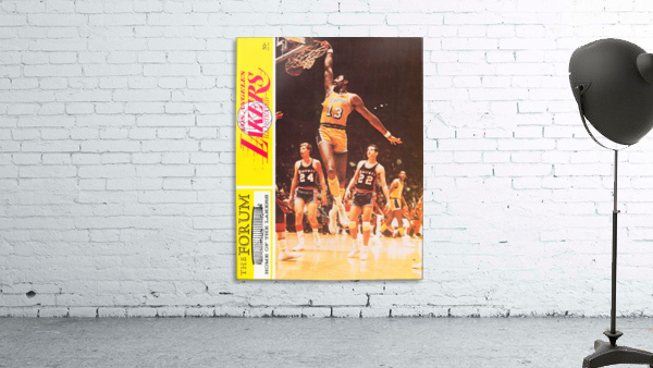 1968 la lakers basketball poster wilt chamberlain dunk photo