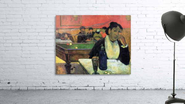 Madame Ginoux in Cafe by Gauguin