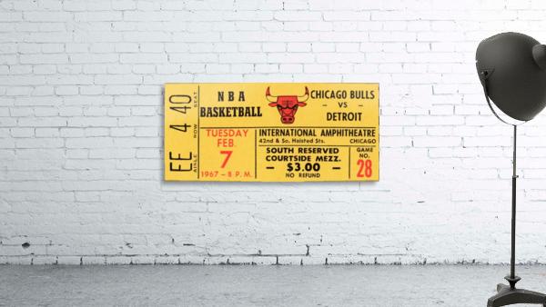 1967 Chicago Bulls 1st Season Ticket Art