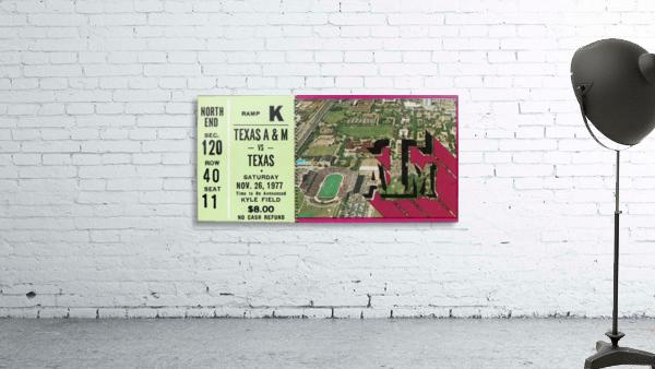 1977 texas am aggies college station football ticket stub wall art