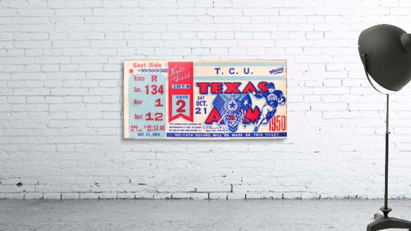 1950 texas am aggies tcu football ticket stub art kyle field college station
