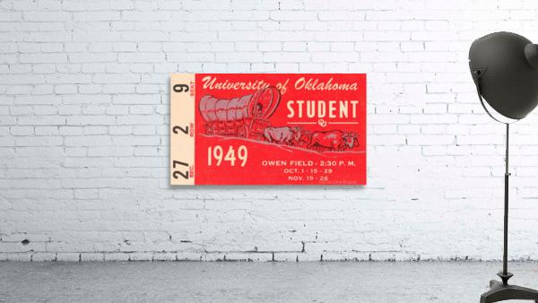 1949 oklahoma sooners football student season ticket art