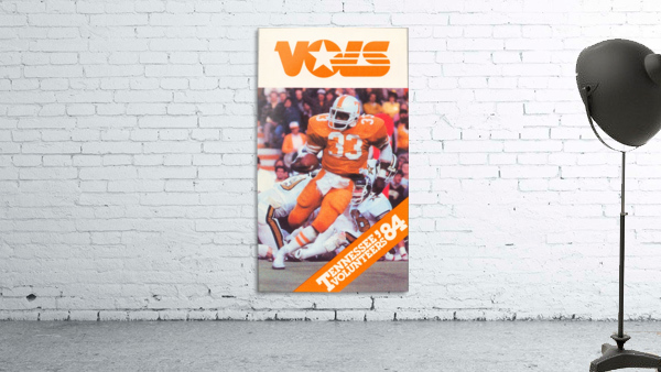 1984 tennessee vols college football poster