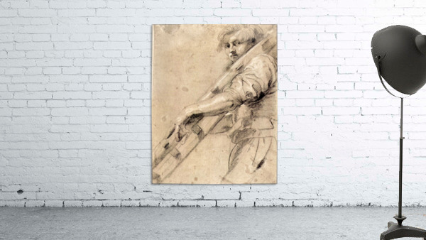 Man carrying a ladder by Rubens